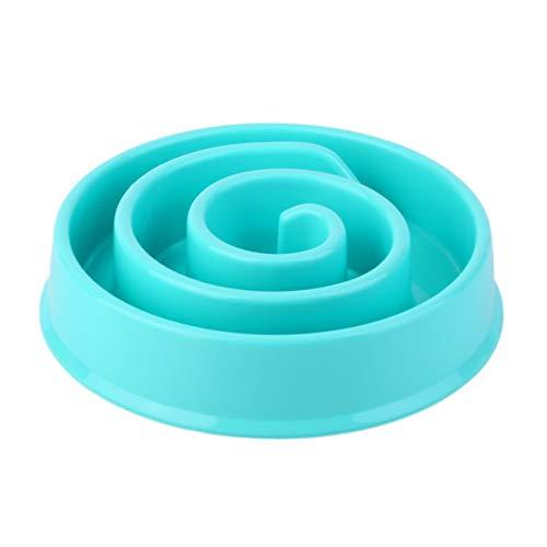 Susanda Anti Choke Pet Dog Feeding Bowls Plastic Snail Shape Slow Down Eating Food Prevent Obesity Healthy Diet Dog Accessories