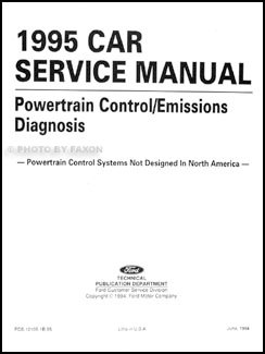 1995 Ford Probe Aspire Escort GT Tracer Engine Emissions Diagnosis Manual