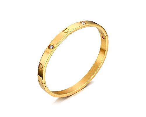 EuroLux Pulseras de Mujer de Titanium Chapada en Oro Gold Plated PL0048