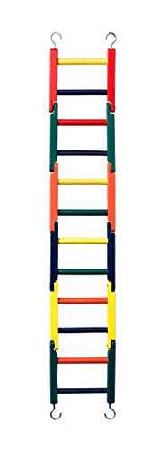 Prevue Pet Products 1140L Carpenter Creations Multi-Color Jointed Wood Ladder, 24″