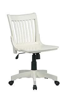 Amazon Com Deluxe Mid Back Bankers Chair Finish Antique