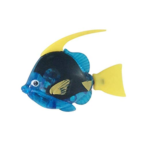 (Polymer Robot Fish Artificial Moving Floating Fishes Ornament Toy Childen Kids Robotic Gift Decorations for Aquarium Fish Tank (Blue) ( Color : Blue , Size : 7.5 x 6.5 x 2cm ))
