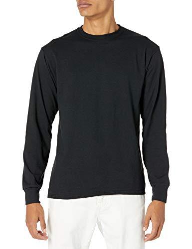 Jerzees Men's Dri-Power Long Sleeve T-Shirt, Black, Large