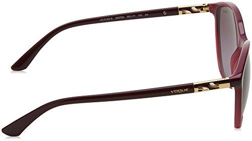 Sol de Opal 0Vo5165S 55 Mujer Gradient Violet Gafas para Vogue TvtwEE