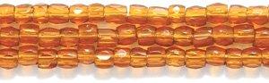 Glass Cut Beads Seed (Preciosa Ornela Czech 3-Cut Style Seed Glass Bead, Size 9/0, Transparent Deep Topaz)