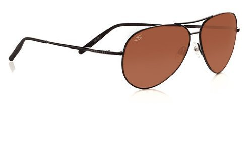 Serengeti Polarized Sunglasses Medium Metal Aviator in Matte Black & Drivers Lens - Aviator Serengeti Sunglasses Medium