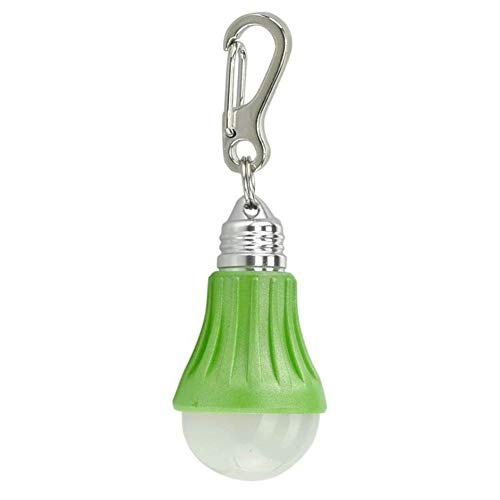 High Powered Energy Saving Lamp Light Bulb Keychain Clip Charm Flashlight Green ()