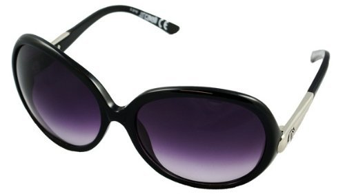 Just Cavalli Women's JC 318S Black Frame Grey Violet Shaded Lens Sunglasses by Just Cavalli
