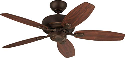 Monte Carlo 5CQM44RB Centro Max II Dual Mount 44 Ceiling Fan with Pull Chain, 5 Blades, Roman Bronze