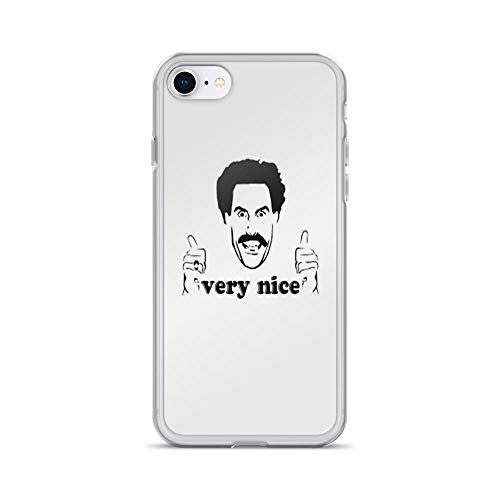 iPhone 7 Case iPhone 8 Case Cases Clear Anti-Scratch Borat Very Nice, Borat Cover Case for iPhone 7/iPhone 8, Crystal -