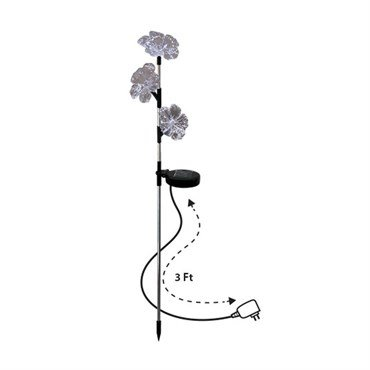 Alpine SOT530A-DSP Flower Trio LED Garden Stake with Wall Plug by Alpine