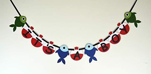 Fishing It's a Boy Baby Shower Banner ()