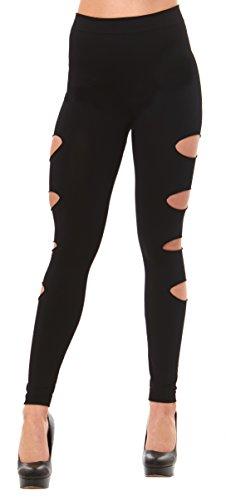 side ripped leggings - 4