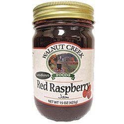 Amish Red Raspberry Seedless Jam 15oz Ohio Made (Amish Food Gift Baskets)