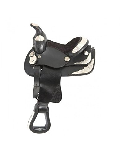 King Series Mini Western Show Saddle Black