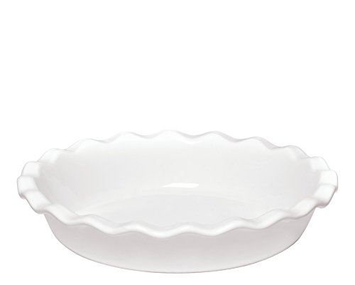 France 9 Inch Pie Dish, Flour (Ceramic Quiche Dish)