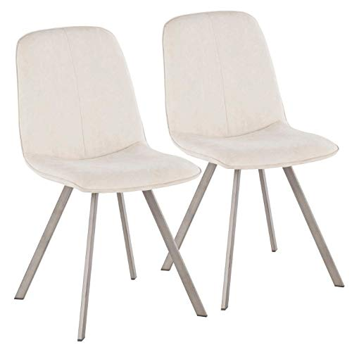 (LumiSource Dining Chair in Cream - Set of 2)