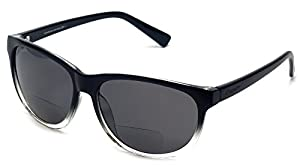 Coyote BP-18 Lightweight Reading Sunglasses Polarized Bi-focal in Black & Grey