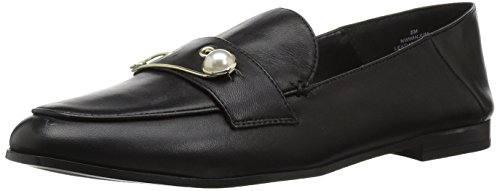 Black Loafer Flat Winjum Women's Leather West Nine BWnqCFRwTC