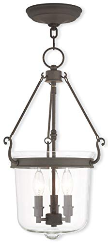Livex Lighting 50484-07 Bronze Pendant with Clear Glass