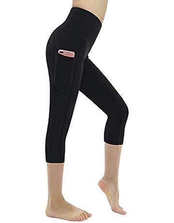 56f26f72977147 Dragon Fit High Waist Yoga Capri Pants with 3 Pockets,Tummy Control Workout  Running Capri