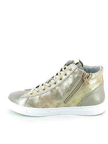 sneaker Alta Laminata Pailettes Nerogiardini Con SpqdwpO