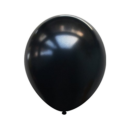Neo LOONS 10 Pearl Black Premium Latex Balloons -- Great for Kids , Adult Birthdays, Weddings , Receptions, Baby Showers, Water Fights, or Any Celebration, Pack of 100