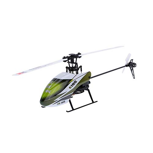 Wapipey Upgraded Version Getting Started 6 Channel 3D Stunts Remote Control Distance 300m Helicopter Falcon 6CH 6G System BNF RC Helicopter 2.4GHz Remote Control Aircraft Plane Electronic Flying Toys
