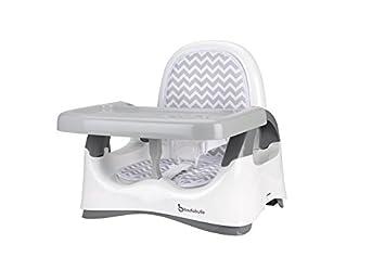 Badabulle Rhasseur De Chaise Confort Blanc Gris Bb Pliable Evolutif