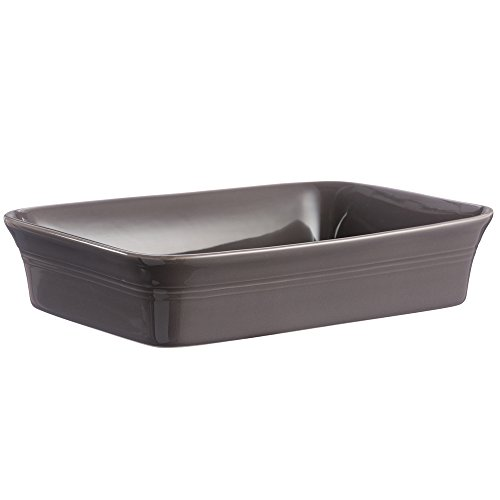 Mason Cash Classic Kitchen Rectangular Baker, Durable Stoneware Is Dishwasher, Oven, Microwave and Freezer Safe, Versatile Size Holds 100-Fluid Ounces,12-1/4'' x 10'' x 2-3/4'', Dark Gray by Mason Cash