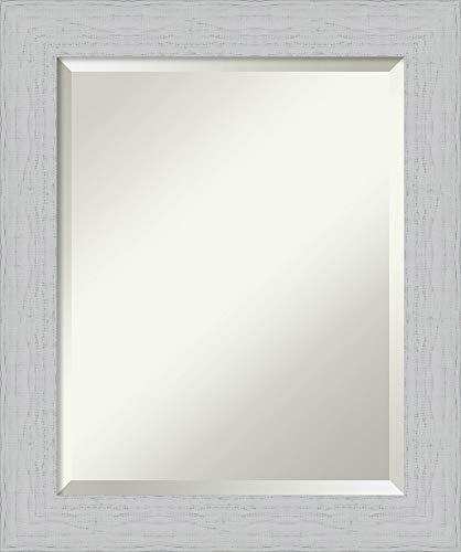 Framed Vanity Mirror | Bathroom Mirrors for Wall | Shiplap White Mirror -
