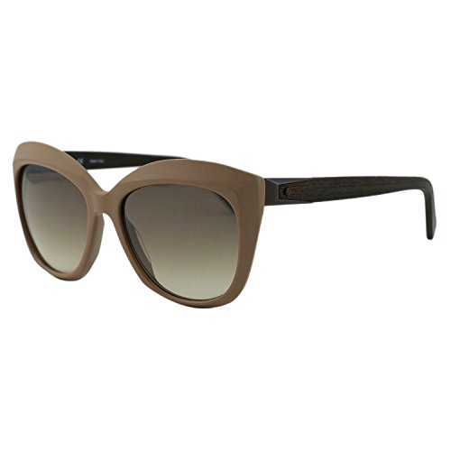 Lanvin Paris SLN632 Women Brown Butterfly Wooden Details Sunglasses ()