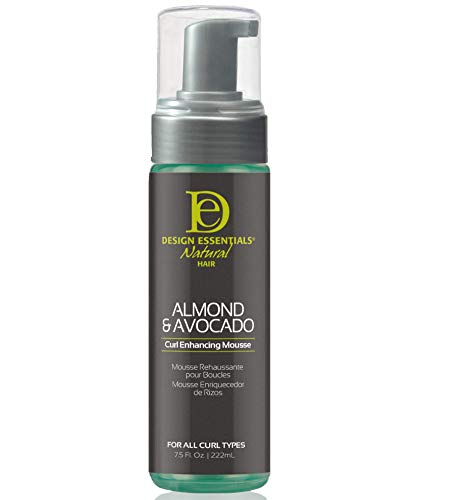 Design Essentials Natural Curl Enhancing Mousse, Quick Drying Must-Have for Perfectly Defined Luminous Curls-Almond & Avocado Collection, 7.5 Fl Oz (Best Curl Mousse For Curly Hair)