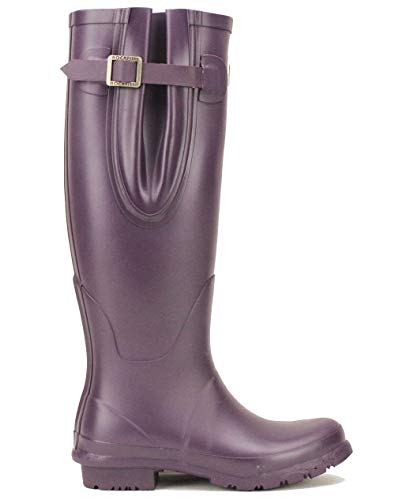 Boots Delivery Ladies Calendered Purple Rubber high Free Insole Cushioned Grape Wellington Knee Size Winning Award 3 Natural RCw5q6Ux