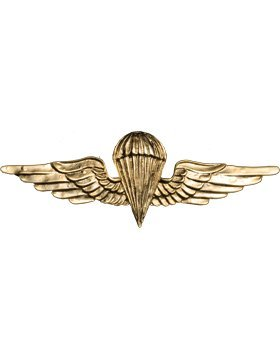 No Shine Basic Jordanian Parachutist Wings (Gold) (Wings Parachutist)