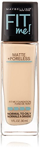 Maybelline New York Fit Me Matte + Poreless Foundation, Porcelain, 1 fl. oz.