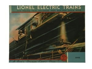 LIONEL PREWAR 1932 CATALOG COVER IRON WALL HANGING metal sign train (Pre War Lionel Trains)