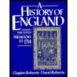 History of England : Prehistory to 1714, Roberts, Clayton and Roberts, David, 013390394X