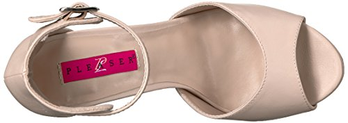 Pleaser Pink Label Eve-02 - Plataforma Mujer Beige (Cream Faux Leather)