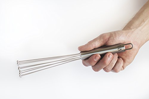 "10"" Wand Whisk - Small Wand Whisk for Sauces, Eggs, Cream, Roux - by VansieHome (10"" Small)"