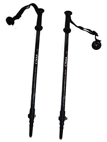 "Junior Pole - WSD Ski Poles Telescopic Adjustable Collapsible Kids Junior Downhill/Alpine ski Poles 7075 Alu Pair with Baskets 32"" to 42 (Black/Gray)"