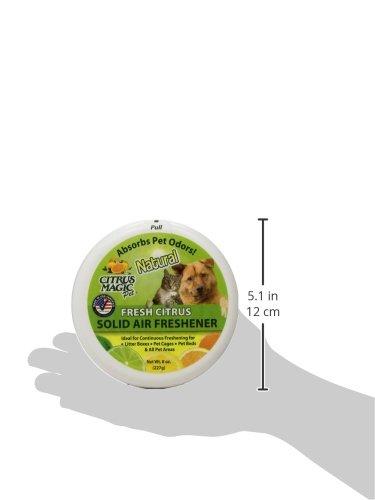 Citrus Magic Pet Odor Absorbing Solid Air Freshener Fresh Citrus, Pack of 3, 8-Ounces Each by Citrus Magic (Image #2)