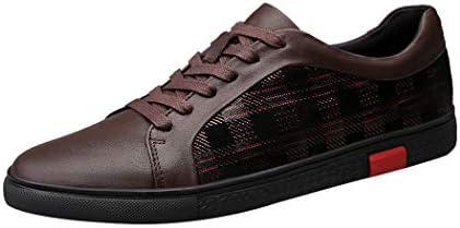 スニーカー チェック メンズ レザースニーカー 柄 革靴 カジュアルシューズ 黒 ブラウン