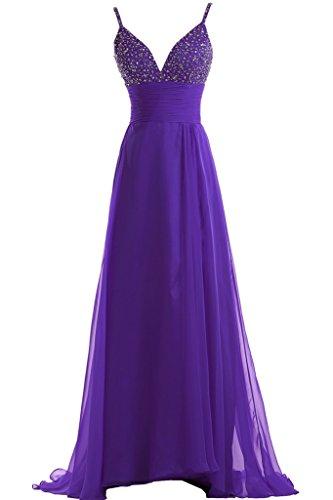 Toscana sposa Glamour due-Traeger Chiffon sposa giovane dal vestimento un'ampia per una serata Party ball vestimento viola 44