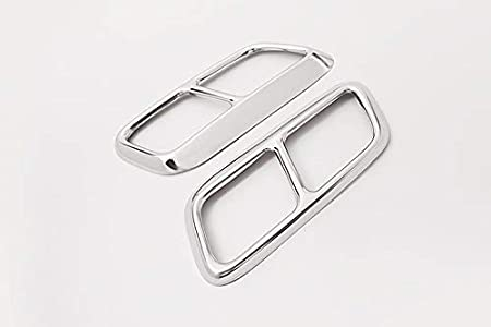 YIWANG 304 Stainless Steel Pipe Throat Exhaust Outputs Tail Frame Trim Cover 2Pcs For Land Rover Range Rover Sport 2018 2019 Auto Accessories Silver