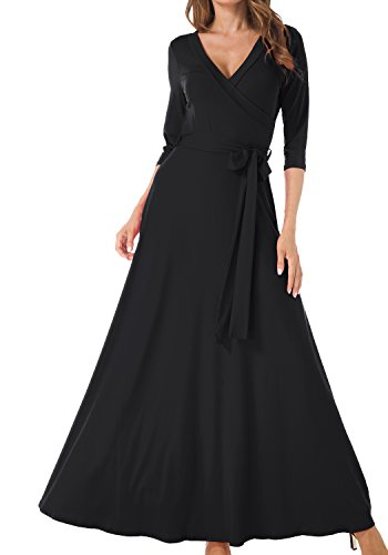 long black maxi dress with sleeves - 3