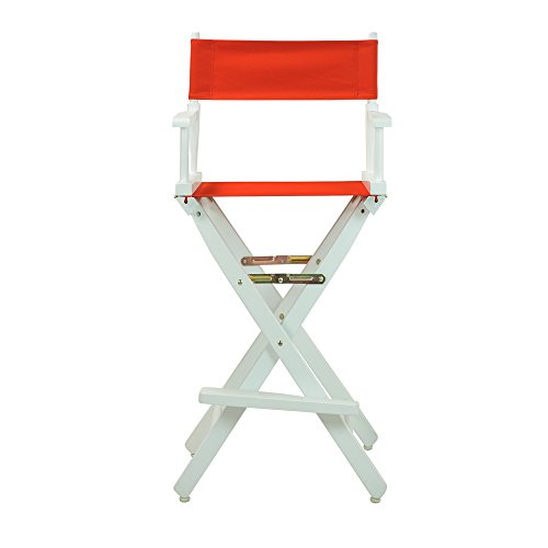 Casual-Home-30-Inch-Director-Chair-White-Frame-Red-Canvas
