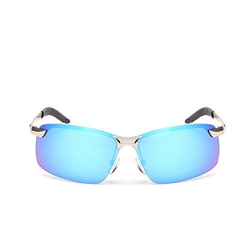 última Enmarcado moda Azul de Plateado hombres pesca sol gafas sombreado sol En plateado Verde gafas morado blanca de 3043 2018 unidad polarizadas Aiku nariz deportivas de Marco de SA585F