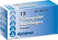 """Triangular Bandage, 36"""" X 36"""" X 51"""", 12/Box"""