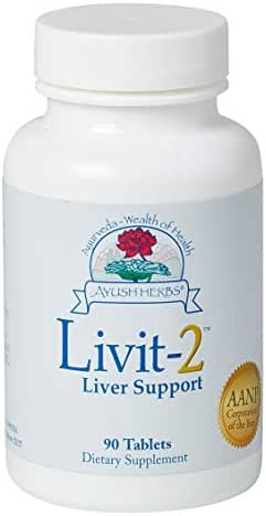 Livit-2, Liver Protective & Detoxifying Support, 90 Count by Ayush Herbs